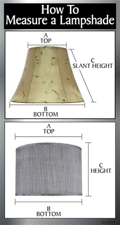 how to measure a l shade 45003 one light crystal accented floor l