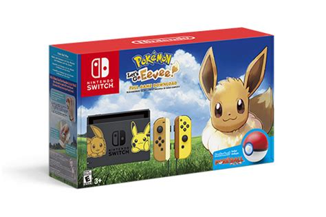 nintendo reveals  pair  nintendo switch pikachu eevee