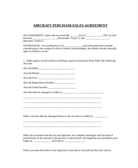 sales agreement forms   ms word