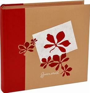 Album Photo Traditionnel à Coller : album photo traditionnel greenearth coloris rouge ~ Melissatoandfro.com Idées de Décoration
