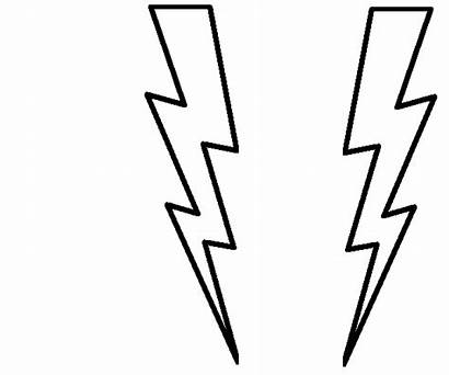 Coloring Lightning Bolt Printable Pages Clipart Weather