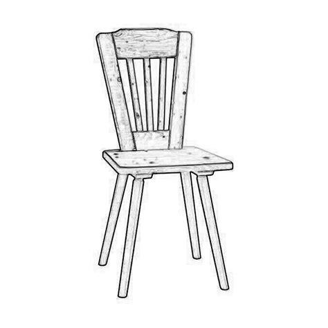 sedia legno grezzo sedia rustica in legno grezzo di abete o rovere w2803