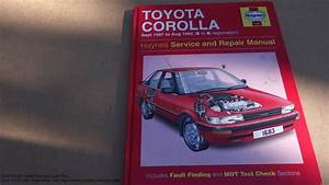 Service And Repair Manual Review Toyota Corolla 1987 To