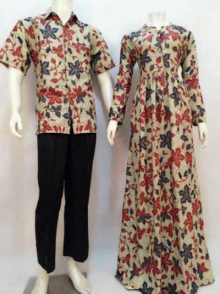 contoh model baju gamis batik desain terbaik