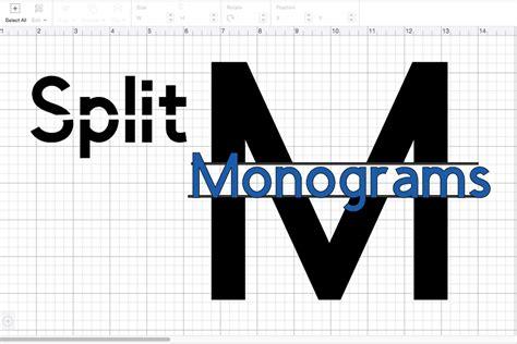 split monogram  fathers day presents cricut