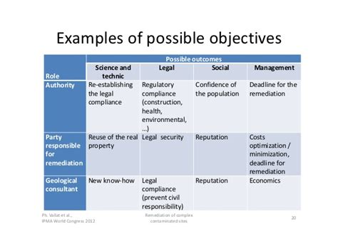 manage by objective template ipma 2012 managing complexity exle of the remediation of complex