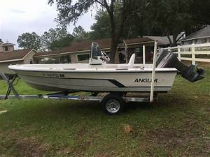1987 17 U0026 39  Angler Center Console Boat Trailer Fishing