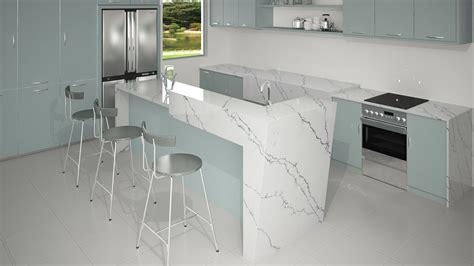 kitchen island counter vicostone venatino quartz countertops