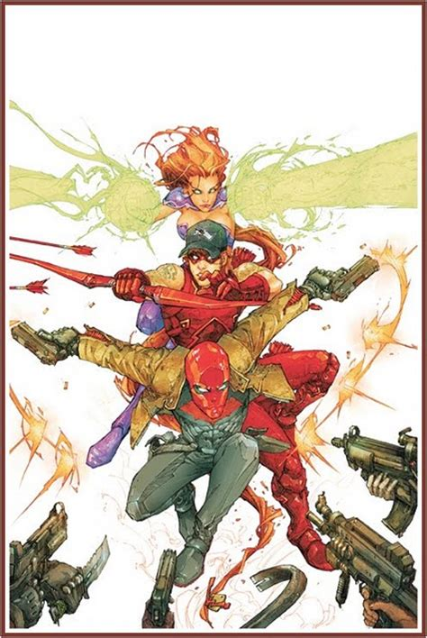 red hood   outsiders featuring starfire