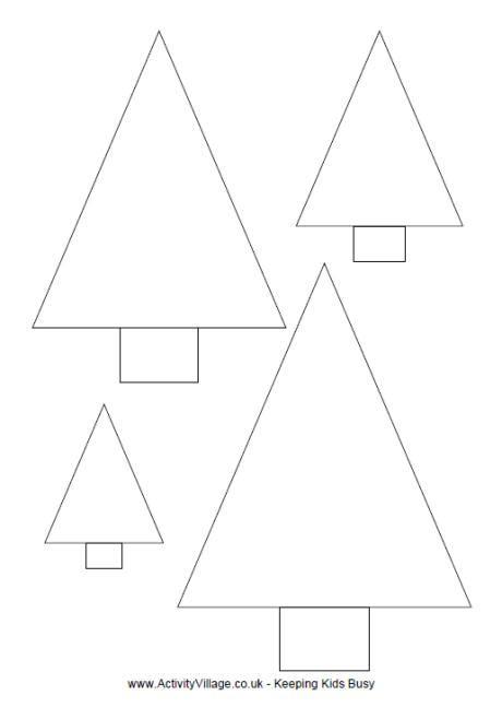 simple christmas tree template  print
