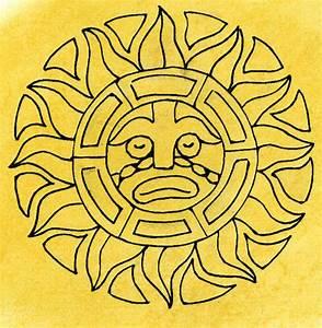 How to draw aztec sun god