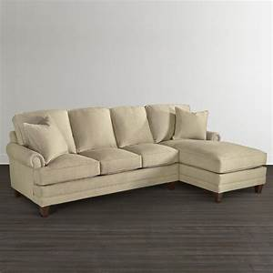 Chaise upholstered sectional bassett furniture for Small sectional sofa bassett