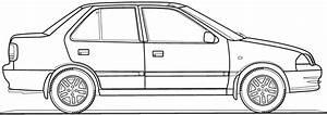 car blueprints suzuki maruti esteem swift blueprints With suzuki swift car