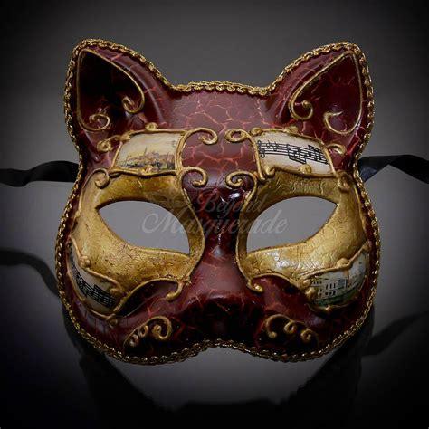 venetian cat mask gatto cat venetian costume masquerade mask m7457