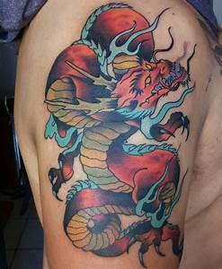 Drachen Tattoo Oberarm : japanische tattoos geschichte und bedeutung ~ Frokenaadalensverden.com Haus und Dekorationen
