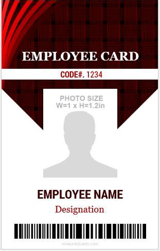 amazing employee vertical size id cards