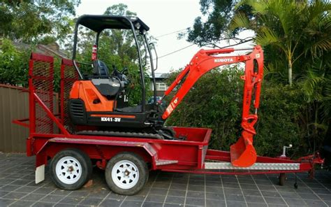kubota kx  mini excavator trailer  sale  australia