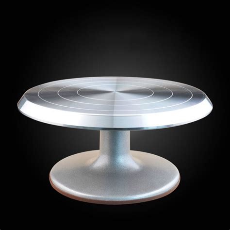 cm aluminum alloy cake turntable rotating cake decorating turntable anti skid cake rack rotary