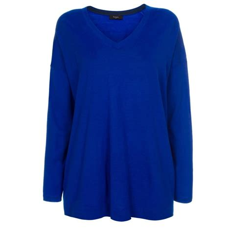 blue sweater paul smith 39 s oversized blue merino wool sweater in