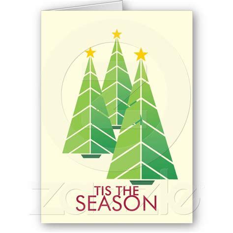 green christmas trees geometric modern holiday zazzle