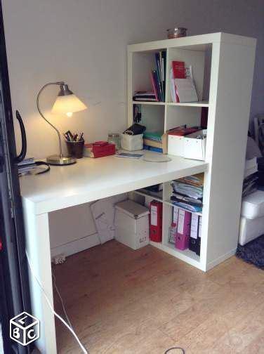 ikea etagere bureau bureau ikéa expedit kallax blanc brillant en tbe