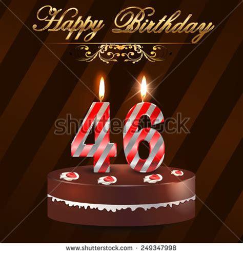 46 Year Happy Birthday Card Cake Stock Vector 249347998   Shutterstock