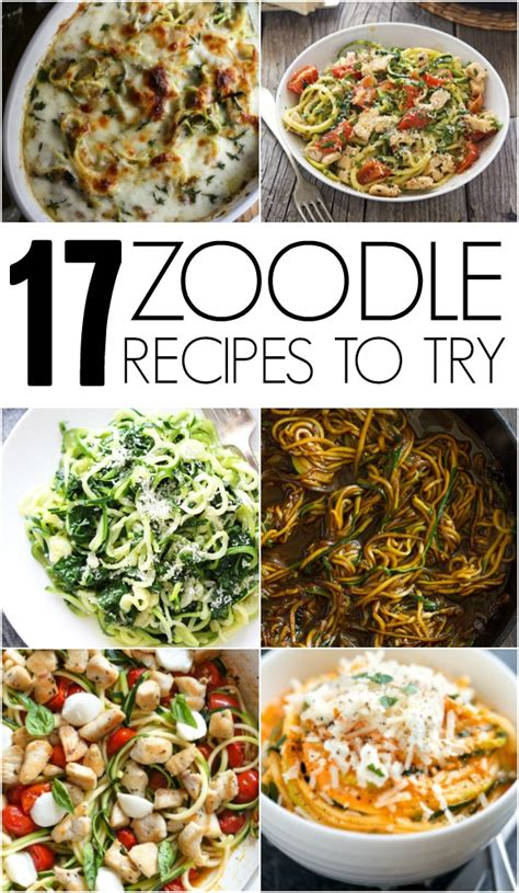 recipes to try 17 zoodle recipes to try six sisters stuff