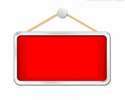 Hanging Sign Blank Clipart Template Board Psd