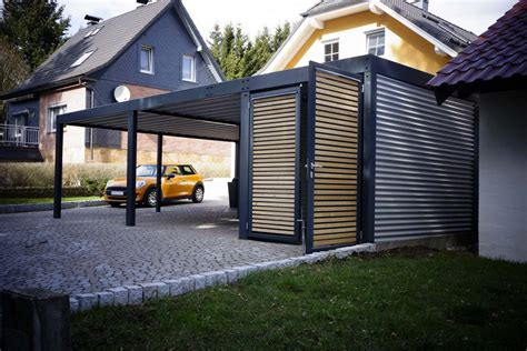 Metallcarport Mit Abstellraum Wien  Der Metall Carport