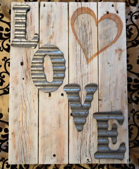corrugated metal wall decor valentines day decor