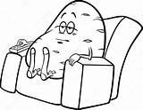 Potato Couch Cartoon Clip Saying Vector Indolent Illustration Cliparts Humor Coloring Royalty Depositphotos Izakowski Joe Gograph Google Lazy Clipartmag Proverb sketch template