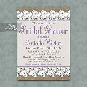 burlap lace bridal shower invitations nifty printables With lace wedding shower invitations