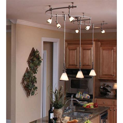 wall mounted monorail track lighting pendants