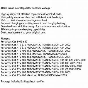 Regulator Rectifier Voltage Fits Arctic Cat Atv 375 X4 400