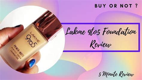 *New Launch* Lakme 9to5 Foundation | 5 minute Reviews ...