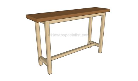 build a sofa table how to build a console table howtospecialist how to