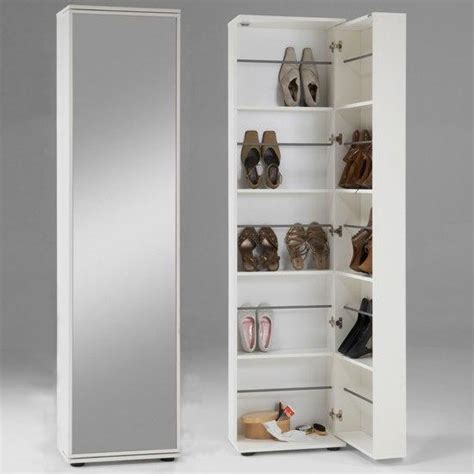 white shoe storage cabinet wooden shoe storage cabinet with mirror in white 4961