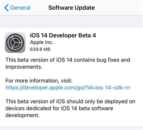 iOS 14 & iPadOS Beta 4 Download Available Now