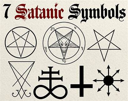 Symbols Satanic Clip Pentagram Satan Vector Drawing