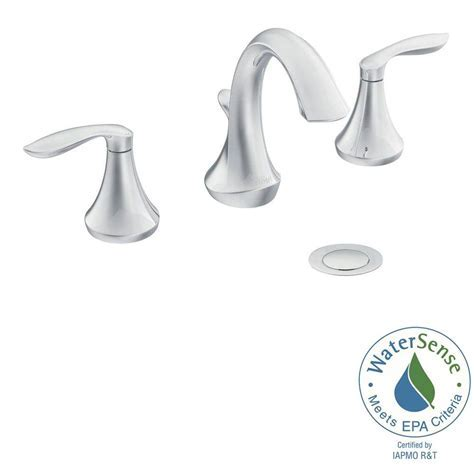 MOEN Eva 8 in. Widespread 2 Handle High Arc Bathroom