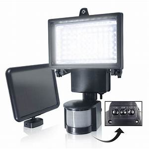 bright led solar powered sensor security flood light With outdoor security lighting with alarm