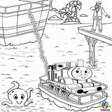 Thomas Train Rescue Island Misty Tank Sea Engine Coloring Friends Boat Raft Coloriages Colouring Cartoon Printables Toys Coloriage Fish Jouets sketch template