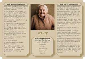 Example One Page Profile Templates of People