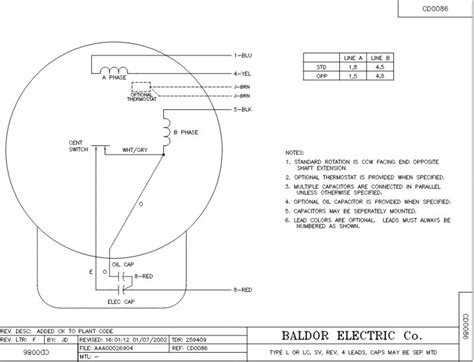 Baldor 5 Hp Capacitor Wiring by Baldor 5 Hp Pressor Motor Impremedia Net