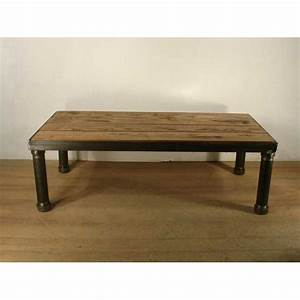 large coffee table industrial style With industrial look coffee table