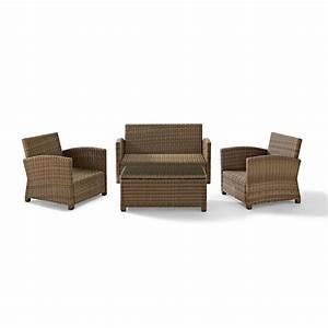 soho 4 piece woven wicker outdoor sectional sofa seats 5 With soho 4 piece outdoor sectional sofa