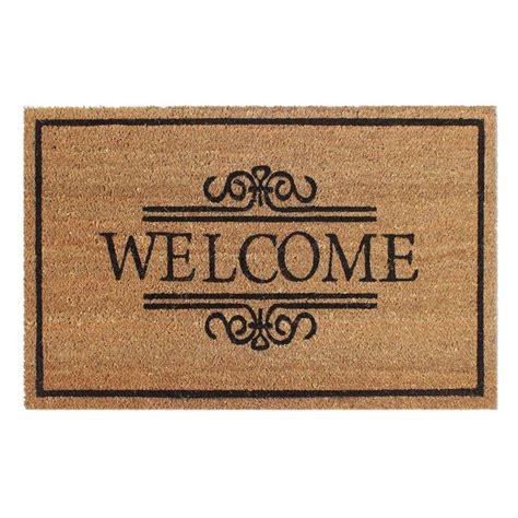 Welcome Mat by Welcome 18 In X 30 In Coir Door Mat 2101014 1 The Home