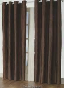 brown eyelet curtains ebay