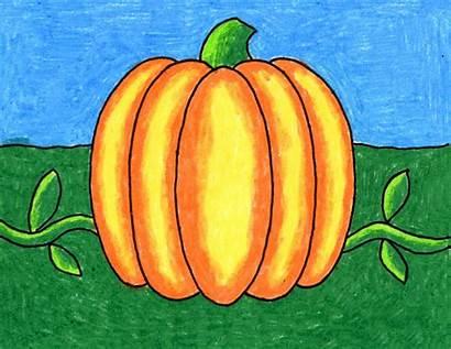 Pumpkin Easy Draw Drawing Shading Projects Neston