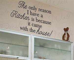 funky kitchen wall quote decals sarcastically funny you With kitchen cabinets lowes with wall art decals quotes
